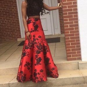 Two piece prom dress very nice